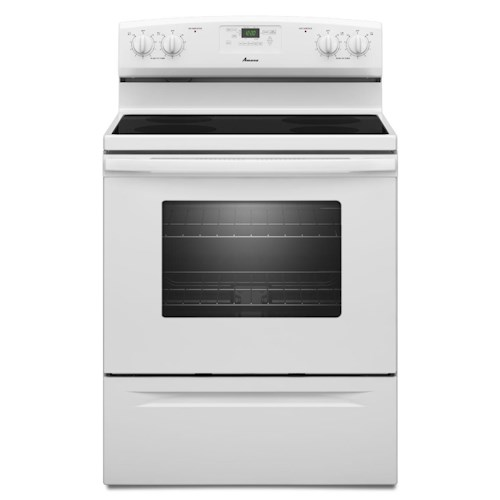Amana Electric Range 4.8 CU. FT. Smoothtop Electric Range with Radiant Elements
