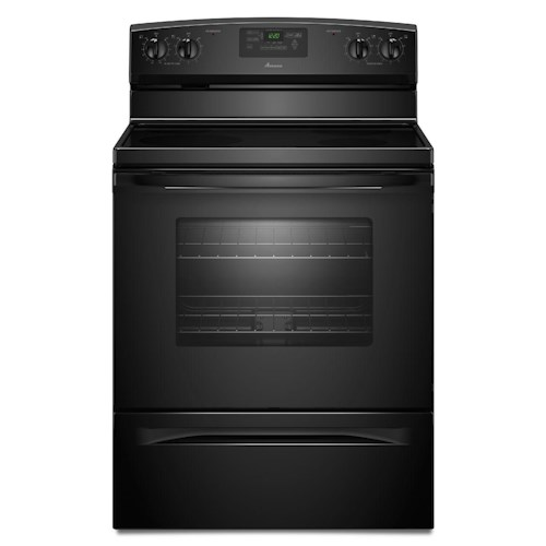 Amana Electric Range 4.8 CU. FT. Electric Range with Spillsaver™ Ceramic-Glass Upswept Cooktop