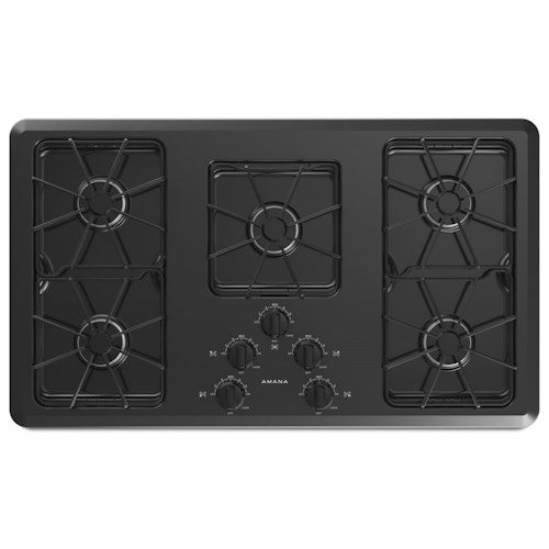 Amana Gas Cooktops - Amana 36-inch Amana® Gas Cooktop with Front Controls