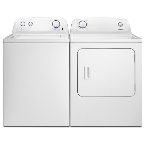 Amana Washer and Dryer Sets 3.5 Cu. Ft. Top-Load Washer With Porcelain Tub and 6.5 Cu. Ft. Top-Load Dryer With Automatic Dryness Control