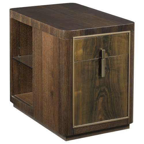 American Drew Ad Modern Organics Kern Drawer End Table with File Storage