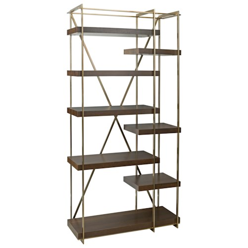American Drew Ad Modern Organics Cowley Etagere with Eight Shelves