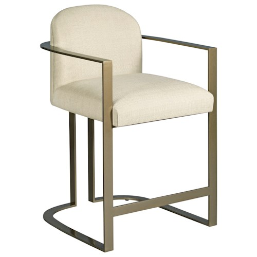 American Drew Ad Modern Classics Gates Counter Stool with Upholstered Seat