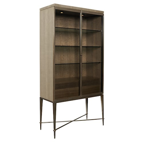 American Drew Ad Modern Classics Knox Curio with Touch Lighting