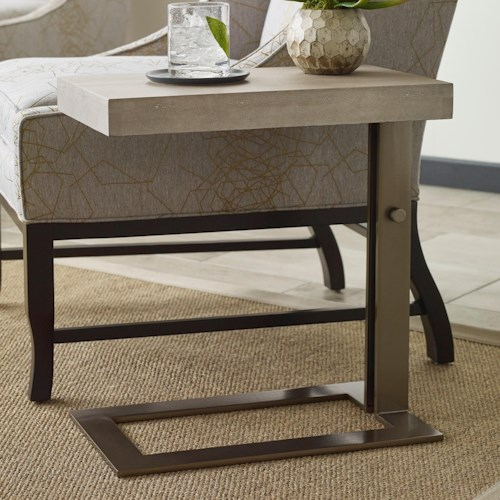 American Drew Ad Modern Classics Blaine Chairside Table with Adjustable Base