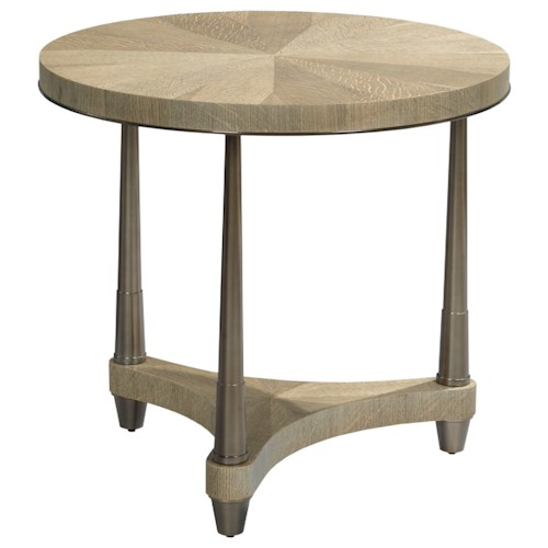 American Drew Ad Modern Classics Dover Road Lamp Table with Round Top