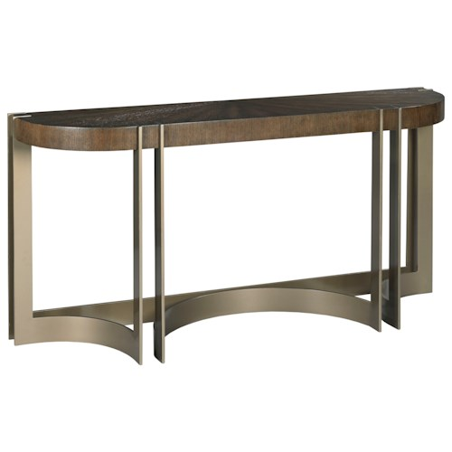 American Drew Ad Modern Classics Rome Console Table with Metal Base