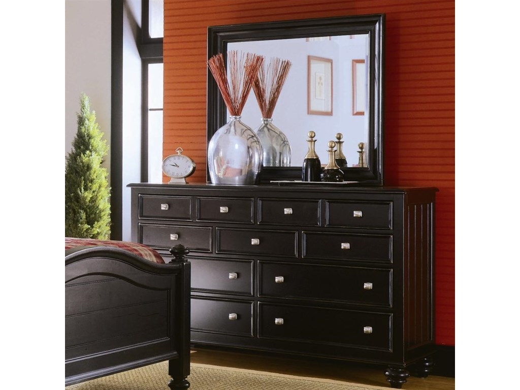 Landscape Mirror Shown with Dresser