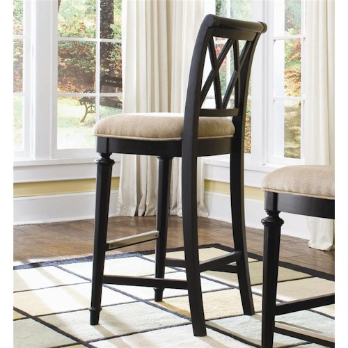 American Drew Camden - Dark Bar Height Bar Stool with Cut-Out Back