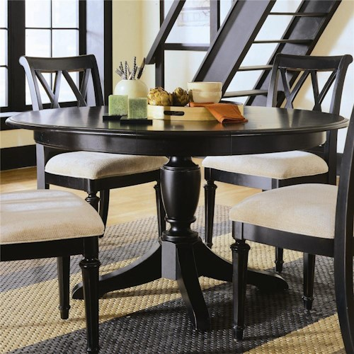 American Drew Camden - Dark Round Table with Butterfly Leaf