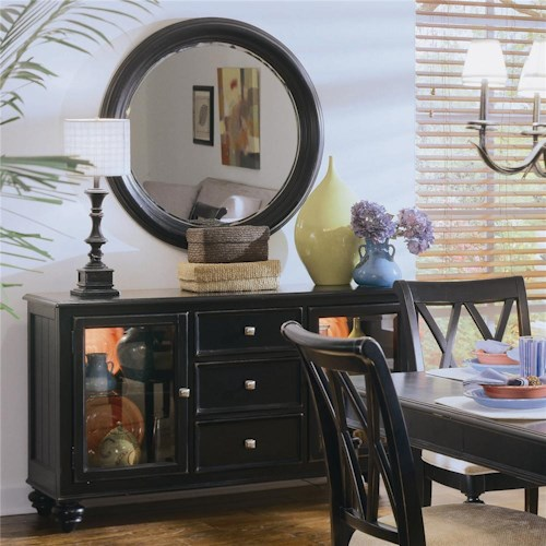 American Drew Camden - Dark China Buffet/Credenza with 2 Glass Doors