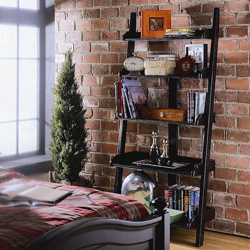 American Drew Camden - Dark Wall Storage with Five Shelves