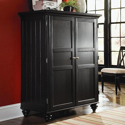 American Drew Camden - Dark Office Cabinet with Doors