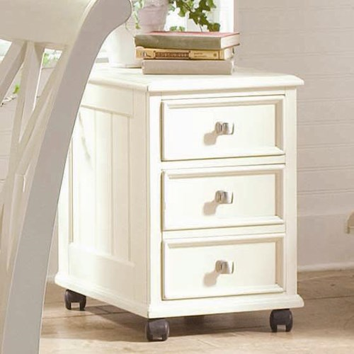 American Drew Camden - Light File Cabinet with 4 Casters and 2 Drawers