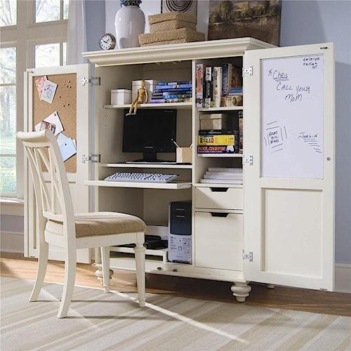 American Drew Camden - Light Office Cabinet with Doors