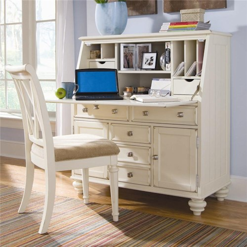 American Drew Camden - Light Secretary Desk with Drop Down Lid