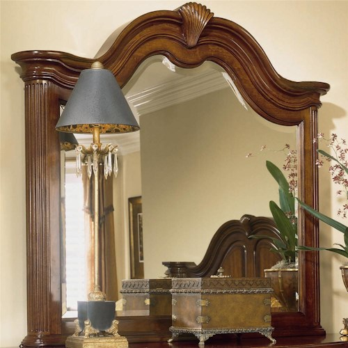 American Drew Cherry Grove 45th Beveled Landscape Mirror
