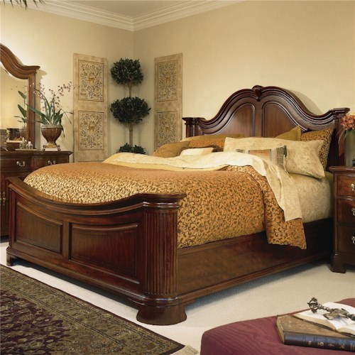 American Drew Cherry Grove 45th Queen Traditional Mansion Bed