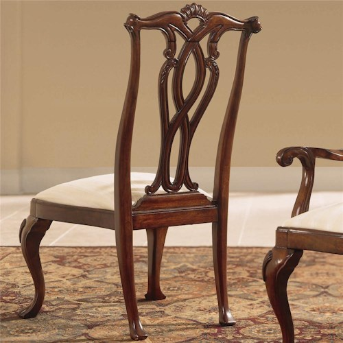 American Drew Cherry Grove 45th Dining Side Chair with Pierced Back