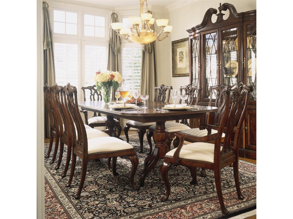 Shown with Pedestal Table and Breakfront China Cabinet