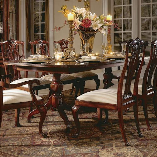 American Drew Cherry Grove 45th Double Pedestal Dining Table