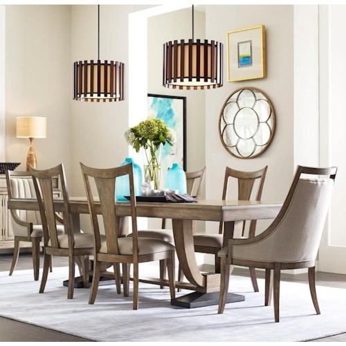 American Drew EVOKE  7 Piece Table & Chair Set
