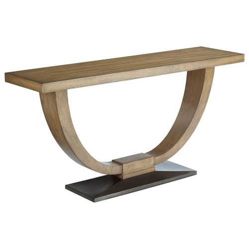 American Drew EVOKE  Sofa Table with Metal Base