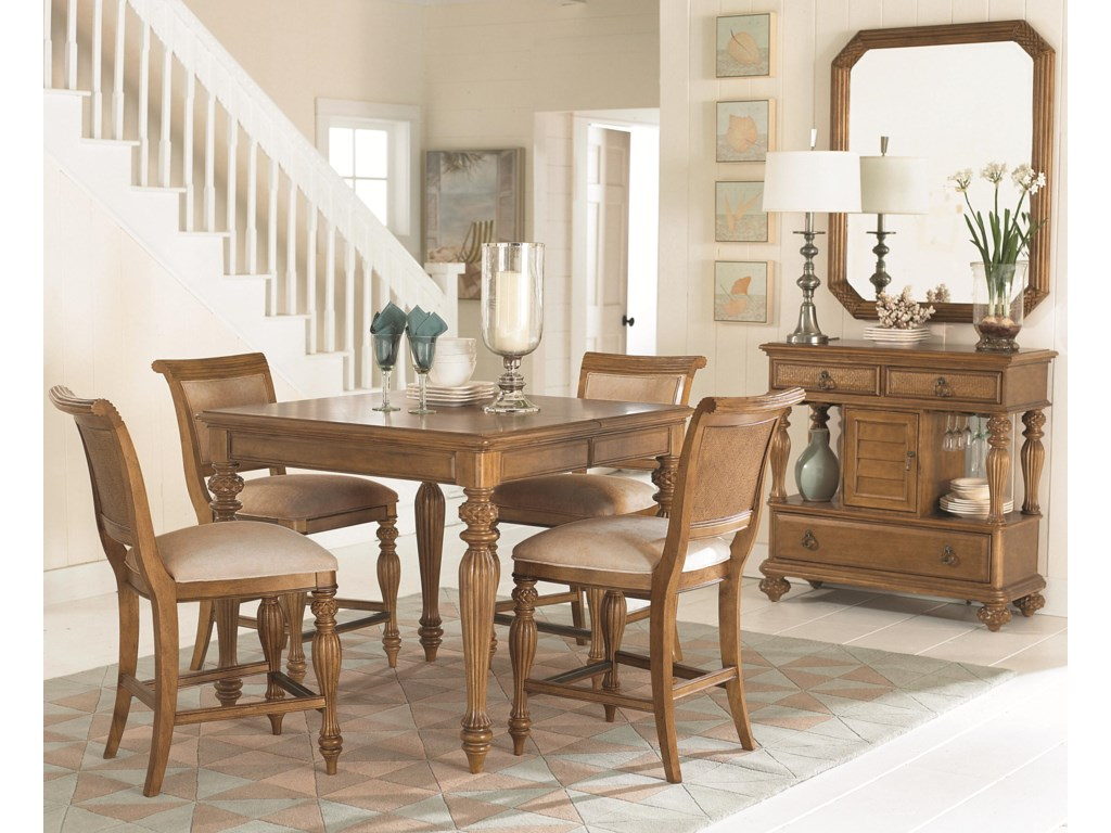 Shown with Sideboard, Counter Height Dining Table, and Counter Height Bar Stools