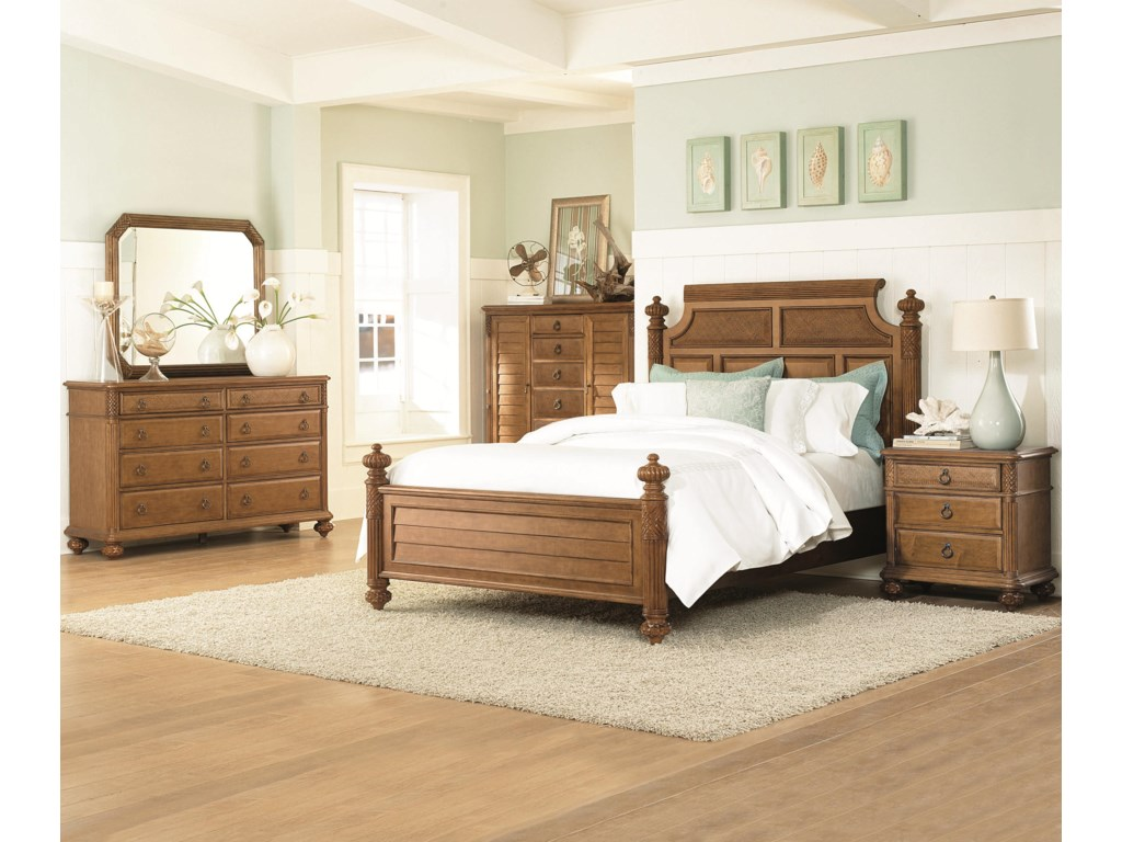Shown with Island Bed, Dressing Chest, Dresser, and Landscape Mirror