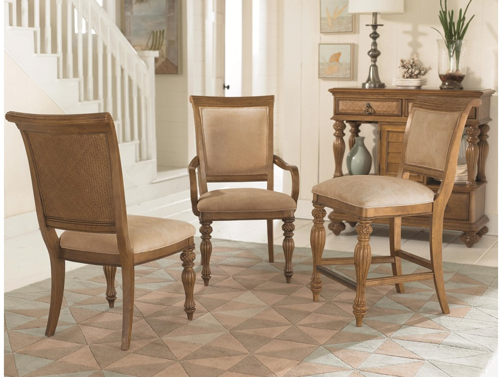 Shown with Arm Chair & Counter Height Barstool
