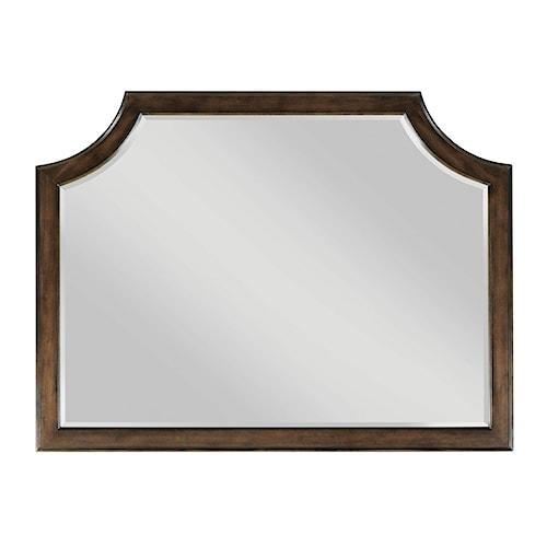 American Drew Grantham Hall Beveled Landscape Mirror