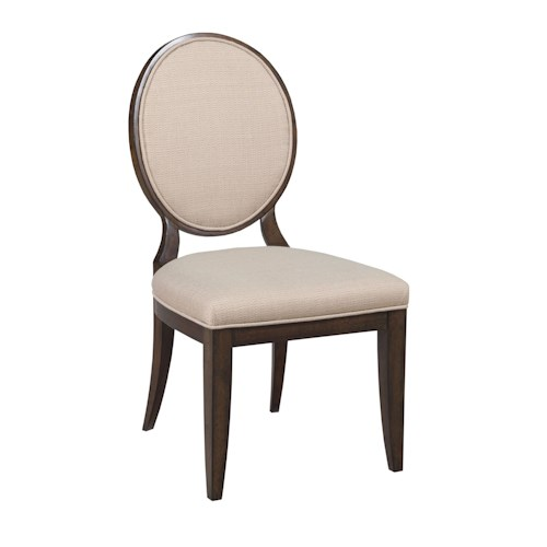 American Drew Grantham Hall Upholstered Side Chair with Decorative Back