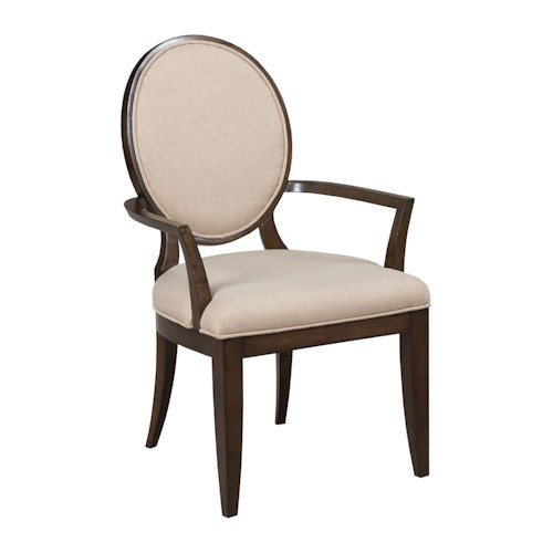 American Drew Grantham Hall Upholstered Arm Chair with Decorative Back