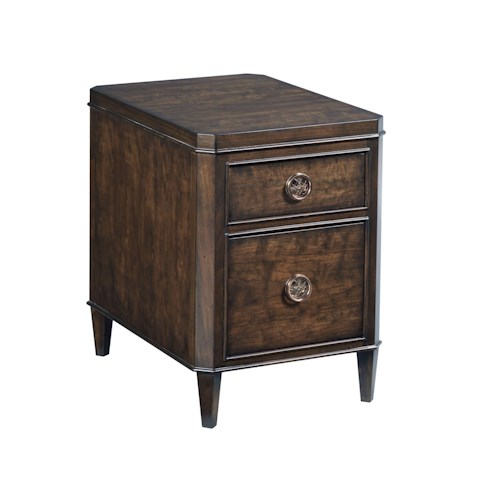 American Drew Grantham Hall Charging Chairside Table with 2 Drawers