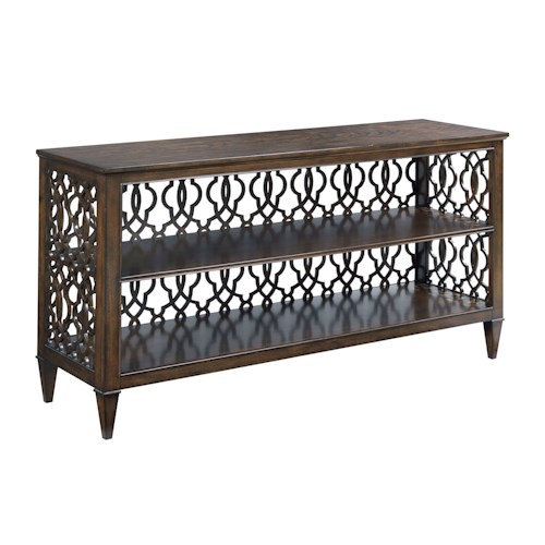 American Drew Grantham Hall Rectangular Hall Console with Decorative Back Panel