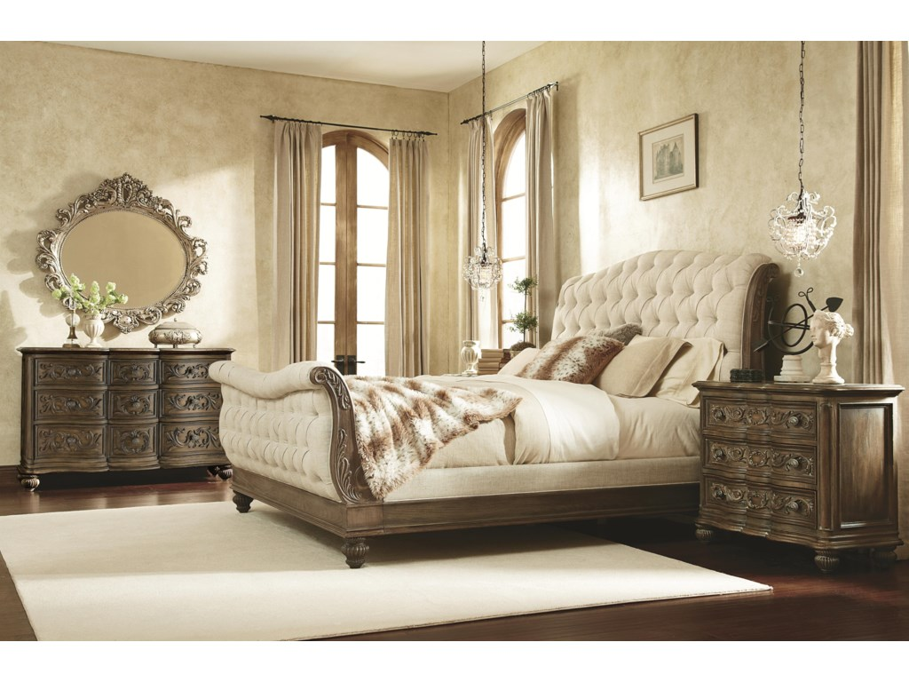 Shown with 9 Drawer Dresser, Sleigh Bed and Bachelor Chest