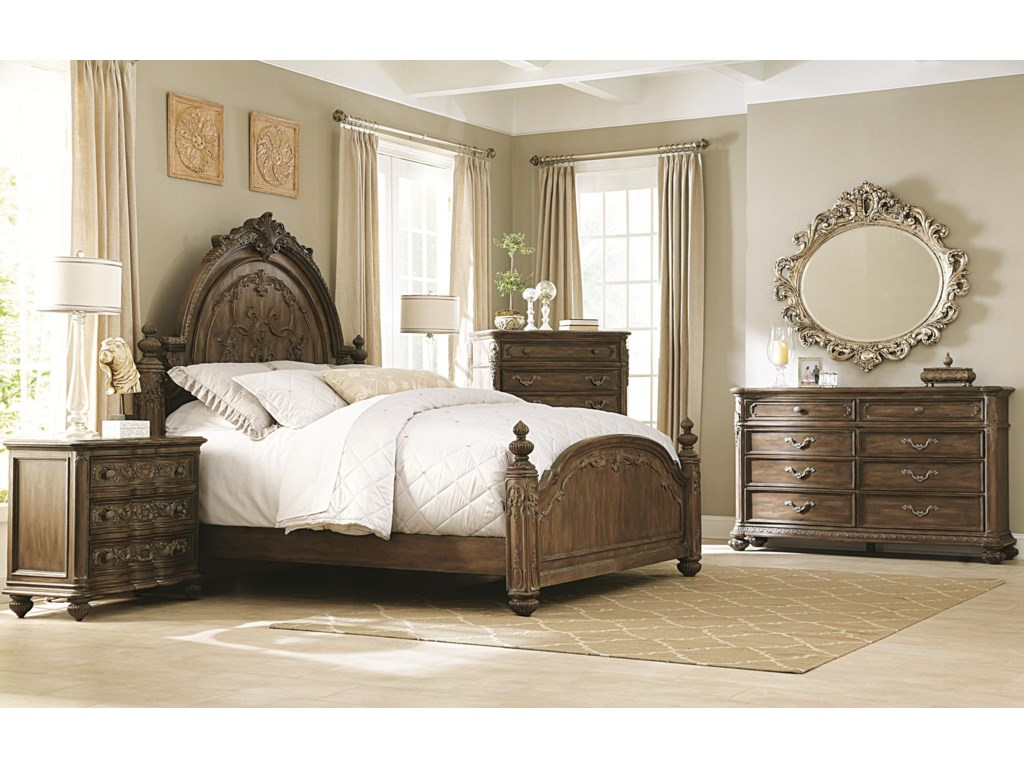 Shown with 8 Drawer Dresser, Mansion Bed, Drawer Chest, and Drawer Nightstand