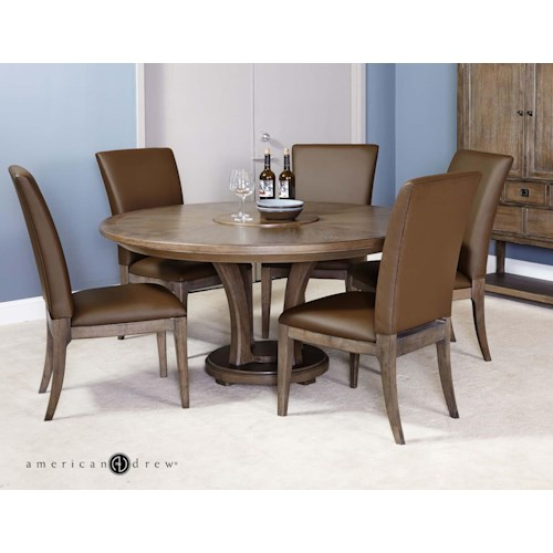 American Drew Park Studio Contemporary 7 Piece Dining Set with Side Chairs and 60
