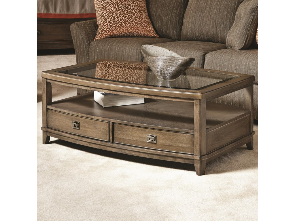 American Drew Coffee Table American Drew Park Studio Contemporary Rectangular Cocktail Table
