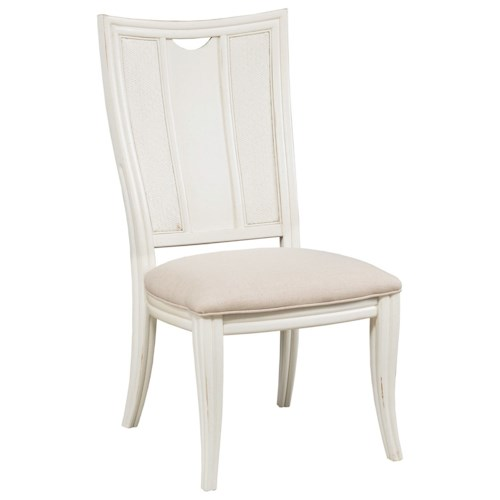 American Drew Siesta Sands  Splat Back Side Chair with Upholstered Seat