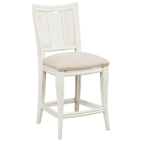 American Drew Siesta Sands  Barstool with Full Back and Upholstered Seat