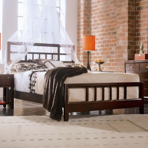 American Drew Tribecca Queen Slat Bed