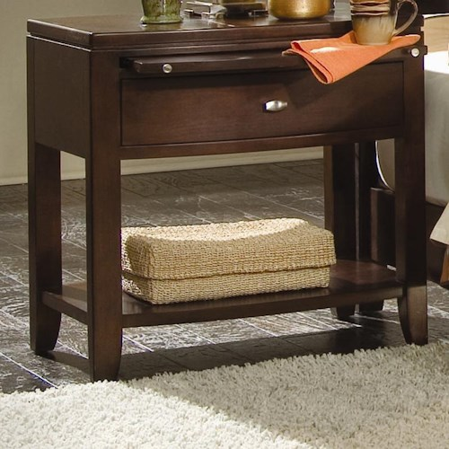 American Drew Tribecca Leg Nightstand with Pullout Tray
