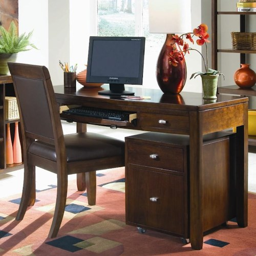 American Drew Tribecca Desk with Rollout Keyboard Drawer