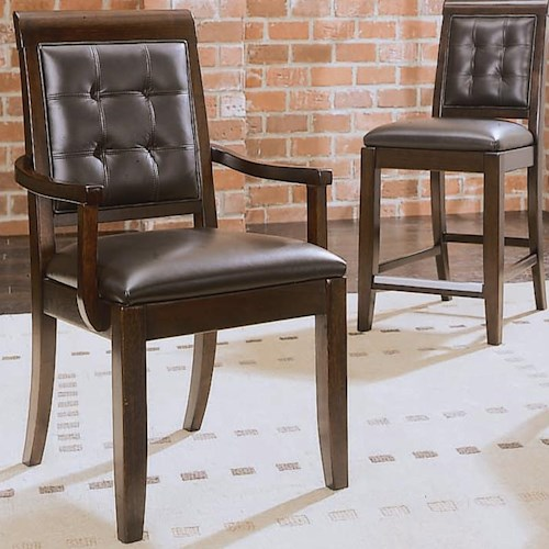 American Drew Tribecca Upholstered Leather Arm Chair