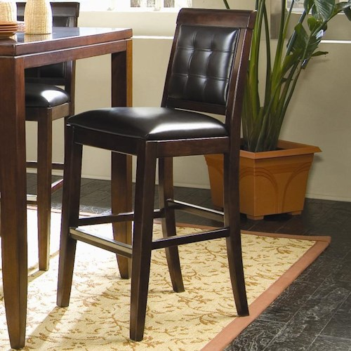 American Drew Tribecca Tufted Leather Bar Height Stool