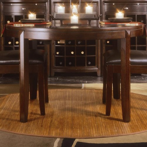 American Drew Tribecca Round, Tapered Leg Formal Dining Table