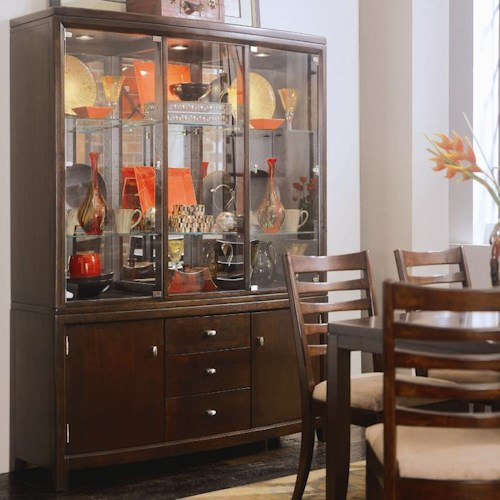 American Drew Tribecca China Cabinet with Adjustable Glass Shelves