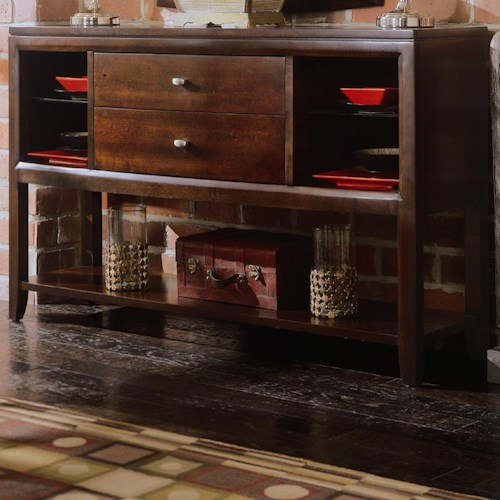 American Drew Tribecca Sideboard/Credenza with Open Shelves