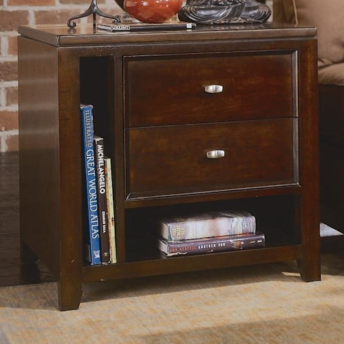 American Drew Tribecca End Table with Magazine Compartment